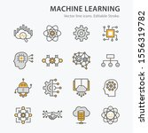 machine learning icons icons ... | Shutterstock .eps vector #1556319782