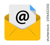 email icon vector in flat style