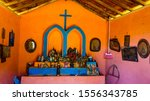 chapel beside the country road... | Shutterstock . vector #1556343785