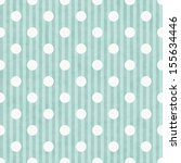 aqua and white polka dot and... | Shutterstock . vector #155634446