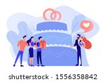 bride and groom at wedding... | Shutterstock .eps vector #1556358842