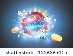 vector illustration gambling... | Shutterstock .eps vector #1556365415