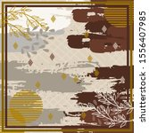 pattern of hijab motif design... | Shutterstock .eps vector #1556407985