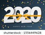 2020 happy new year background. ... | Shutterstock .eps vector #1556449628