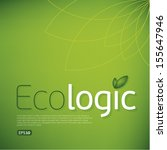 ecologic icon background.think...