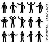 stick figure man standing front ... | Shutterstock .eps vector #1556495645