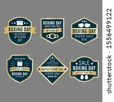 vintage boxing day sale badge... | Shutterstock .eps vector #1556499122