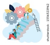 vector illustration of business ... | Shutterstock .eps vector #1556523962