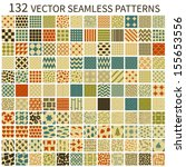 set of seamless retro vector... | Shutterstock .eps vector #155653556