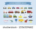 mega set of cars  vehicles  and ... | Shutterstock .eps vector #1556539682