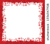 red christmas frame with... | Shutterstock .eps vector #1556547938