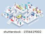 office center  people working... | Shutterstock . vector #1556619002