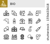 set of bio icons. such as... | Shutterstock .eps vector #1556633618