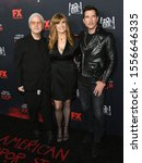 """Small photo of Hollywood- OCT 26: Ryan Murphy, Connie Britton, Dylan McDermott arrives for FX's """"American Horror Story"""" 100th Episode Celebration on October 26, 2019 in Hollywood, CA"""