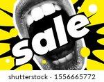 sale banner bright vector... | Shutterstock .eps vector #1556665772