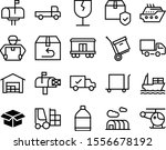 delivery vector icon set such... | Shutterstock .eps vector #1556678192