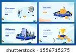 trendy flat illustration. set... | Shutterstock .eps vector #1556715275