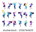 set of concepts of celebrating... | Shutterstock .eps vector #1556764655