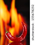 red hot chili pepper on fire...   Shutterstock . vector #155678252