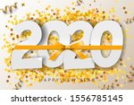 2020 happy new year background. ... | Shutterstock .eps vector #1556785145