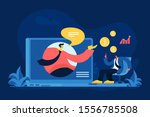 online financial consulting...   Shutterstock .eps vector #1556785508