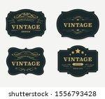 vintage label banner badges set.... | Shutterstock .eps vector #1556793428