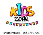 kids zone. colorful background. ... | Shutterstock .eps vector #1556793728