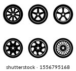 wheels icon  logo isolated on...   Shutterstock .eps vector #1556795168