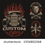 set of vector black and white... | Shutterstock .eps vector #1556802368