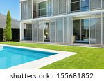 modern villa with pool  view... | Shutterstock . vector #155681852