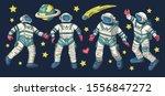 huge vector clip art hand drawn ... | Shutterstock .eps vector #1556847272