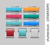 shiny square button icon vector....   Shutterstock .eps vector #1556853095