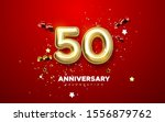 50th anniversary celebration.... | Shutterstock .eps vector #1556879762