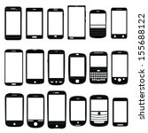various mobile phone icons set...   Shutterstock .eps vector #155688122