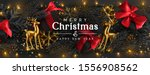 christmas background. holiday... | Shutterstock .eps vector #1556908562