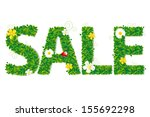 sale text with flowers with...