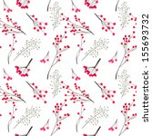 seamless winter pattern with... | Shutterstock .eps vector #155693732