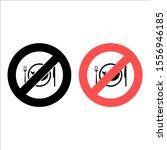 no no fish  service  food icon. ...