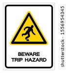 beware trip hazard symbol sign  ... | Shutterstock .eps vector #1556954345