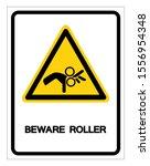 beware roller symbol sign ... | Shutterstock .eps vector #1556954348