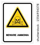 beware ammonia symbol sign ... | Shutterstock .eps vector #1556954378