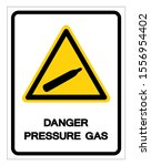 danger pressure gas symbol sign ... | Shutterstock .eps vector #1556954402