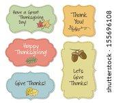 thanksgiving frames | Shutterstock .eps vector #155696108