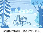 merry christmas postcard with... | Shutterstock .eps vector #1556998118