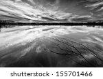 The Lake  Black And White 5