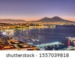 The gulf of naples with mount...