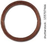 Vector Wooden Round Frame