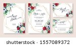wedding invitation  save the... | Shutterstock .eps vector #1557089372