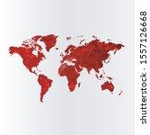world map concept. polygonal... | Shutterstock .eps vector #1557126668