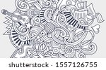 Music Hand Drawn Doodle Banner. ...